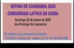 Retiro De Cuaresma 2020 Comunidad Latina De Chiba